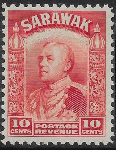 SARAWAK SG113 1934 10c SCARLET MTD MINT