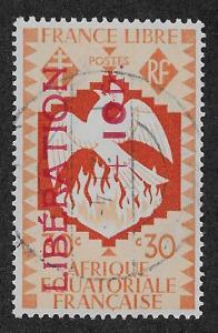 FRENCH EQUATORIAL AFRICA SC# B17  FVF/U  1944