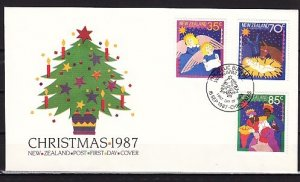 New Zealand, Scott cat. 880-882. Christmas Carols issue. First day cover. ^