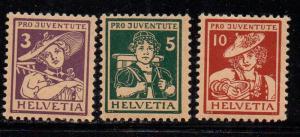 Switzerland Sc B4-6 1916 Pro Juvente stamp set mint