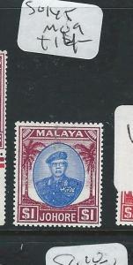 MALAYA JOHORE (PP0710B) SULTAN $1.00  SG 145  MOG