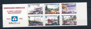 [SU910] Suriname Surinam 1996 Suralco Bauxite industry Ships Booklet MNH