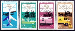 GDR. 1974. 1984-87. Postal transport. MNH.