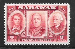 Sarawak 155: 8c Three Brooke Rajahs, MNH, F-VF