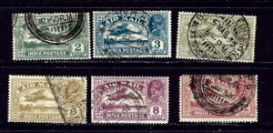 India C1-6 Used 1929 set; short perf on C6