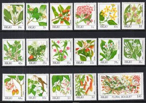 Palau 126-142 Flowers MNH VF
