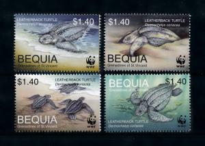 [79166] Bequia Grenadines of St. Vincent 2001 Marine Life Turtles WWF  MNH