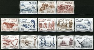 Greenland 1982-85,  Eirik Raude discovery Greenland complete I-VI sets MNH 16,2€