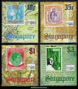 Singapore Scott 349-352 Mint never hinged.