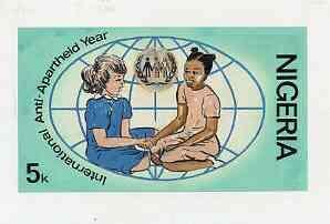 Nigeria 1981 Anti-Apartheid Movement - original hand-pain...