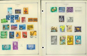 Zambia 1964-2016 Postally Used Hinged on 48 Scott International Pages