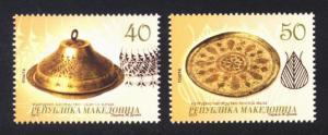 Macedonia Sc# 616-7 MNH Brass Artifacts