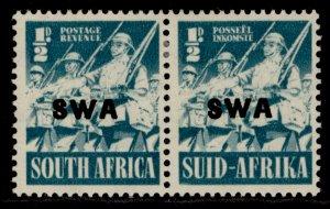 SOUTH WEST AFRICA GVI SG114a, ½d blue-green, M MINT.