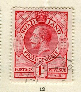 SWAZILAND; 1933 early GV issue fine used 1d. value