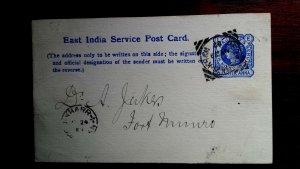 V.Rare Indischem Pakistan Dera Ghazi Khan 1893 Quadratisch Cancelonly Stempel
