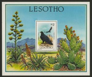 Lesotho 520 MNH Birds, Flowers, Black Eagle