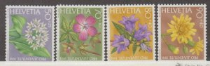 Switzerland Scott #B572-B575 Stamps - Mint NH Set