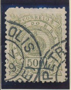 Brazil Stamp Scott #95, Used, City Cancels - Free U.S. Shipping, Free Worldwi...
