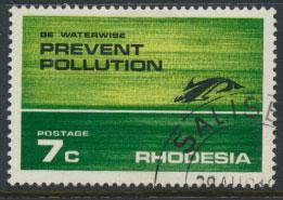 Rhodesia   SG 472  SC# 316  Used Prevent Pollution  Fish see details