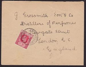 ANTIGUA 1909 EVII 1d LEEWARD IS on cover - St John's cds to London..........6587