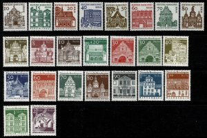 GERMANY BERLIN 1964 CENT. GERMAN ARCHITECTURE SET MINT (NH) SG B236-59 SUPERB