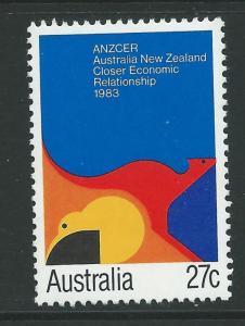 AUSTRALIA SG881 1983 CLOSER ECONOMIC RELATIONSHIP WITH NEW ZEALAND   MNH