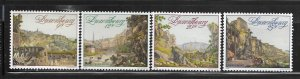LUXEMBOURG, 826-829, MINT HINGED, VIEWS OF THE FORMER FORTRESS