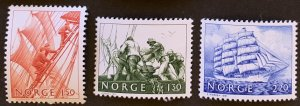Norway 1981 #783-5 MNH. Sailors, ships