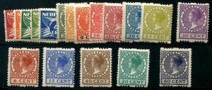 HERRICKSTAMP NETHERLANDS Sc.# 142a-60a 1925 Syncopated Perfs H Mint NH