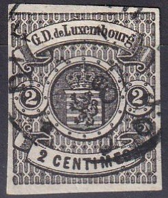 Luxembourg #5  F-VF Used  CV $550.00  (V4834)