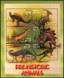 Nevis 2005 Prehistory Animals Dinosaurs Sheet MNH