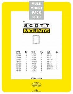 Prinz Scott Stamp Mount Set 2019 BLACK (44 Mounts)
