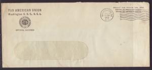 US Pan American Union,Washington,DC 1955 # 10 Size Cover