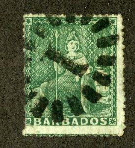 BARBADOS 10 USED SCV $500.00 BIN $150.00 ROYALTY