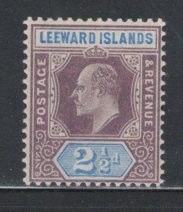 Leeward Islands 1902 King Edward VII 2 1/2p Scott # 23 MH