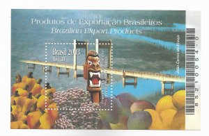 BRAZIL BRASIL 2003 BRAZILIAN EXPORT PRODUCTS SOUVENIR SHEET MI BL125
