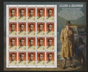 U.S. SCOTT #3152 - HUMPHREY BOGART  BOGIE  - LEGENDS OF HOLLYWOOD - MNH  SHEET