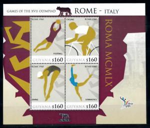 [78209] Guyana 2010 Olympic Games Rome Football Cycling Gymnastics Sheet MNH