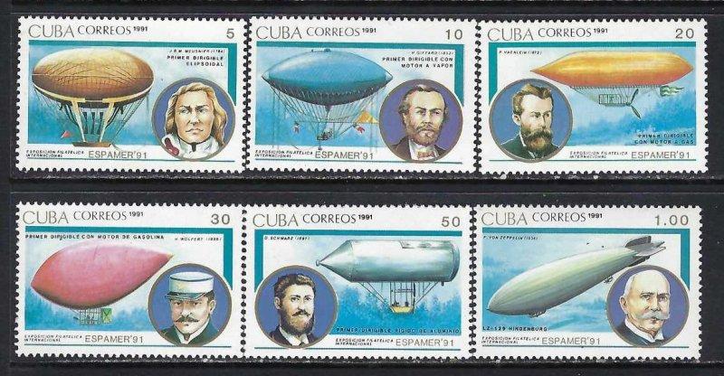 CUBA 3321-26 MNH AIRSHIPS C1001