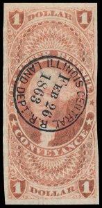 U.S. REV. FIRST ISSUE R66a  Used (ID # 98285)