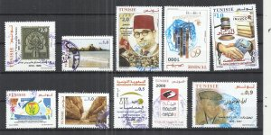 TEN AT A TIME  - TUNISIA 2018 - POSTALLY USED