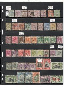 CEYLON COLLECTION ON STOCK SHEETS, MINT/USED