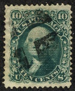 US  #89 SCV $325.00 VF for issue, well centered with clear grill, deep rich c...