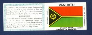 VANJUATU - Scott 280-283  - FVF MNH complete booklet - maps - 1980