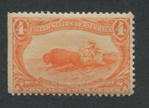 1898 US Stamp #287 4c Mint Hinged Average Original Gum Catalogue Value $100