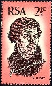 Martin Luther, South Africa stamp SC#343 Used