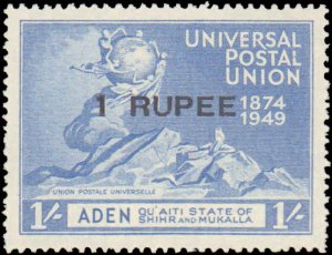 1949 Aden - Quaiti State of Shihr and Mukalla #16-19, Complete Set(4), Never ...