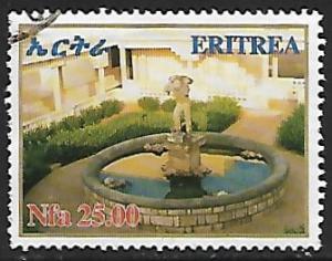 Eritrea # 391 - Statue in Pond - used  -{BR17}