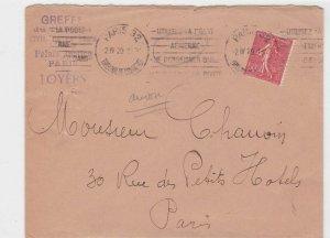 france 1929 slogan   stamps cover ref 13161
