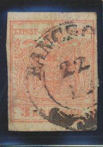 Austria Stamp Scott #3, Used
